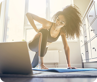 Sessione di fitness online